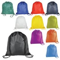 Pack of Five Nylon Drawstring Rucksacks